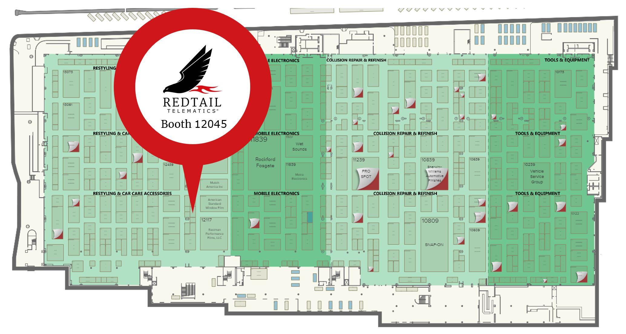 SEMA 2019 Redtail Telematics booth 12045